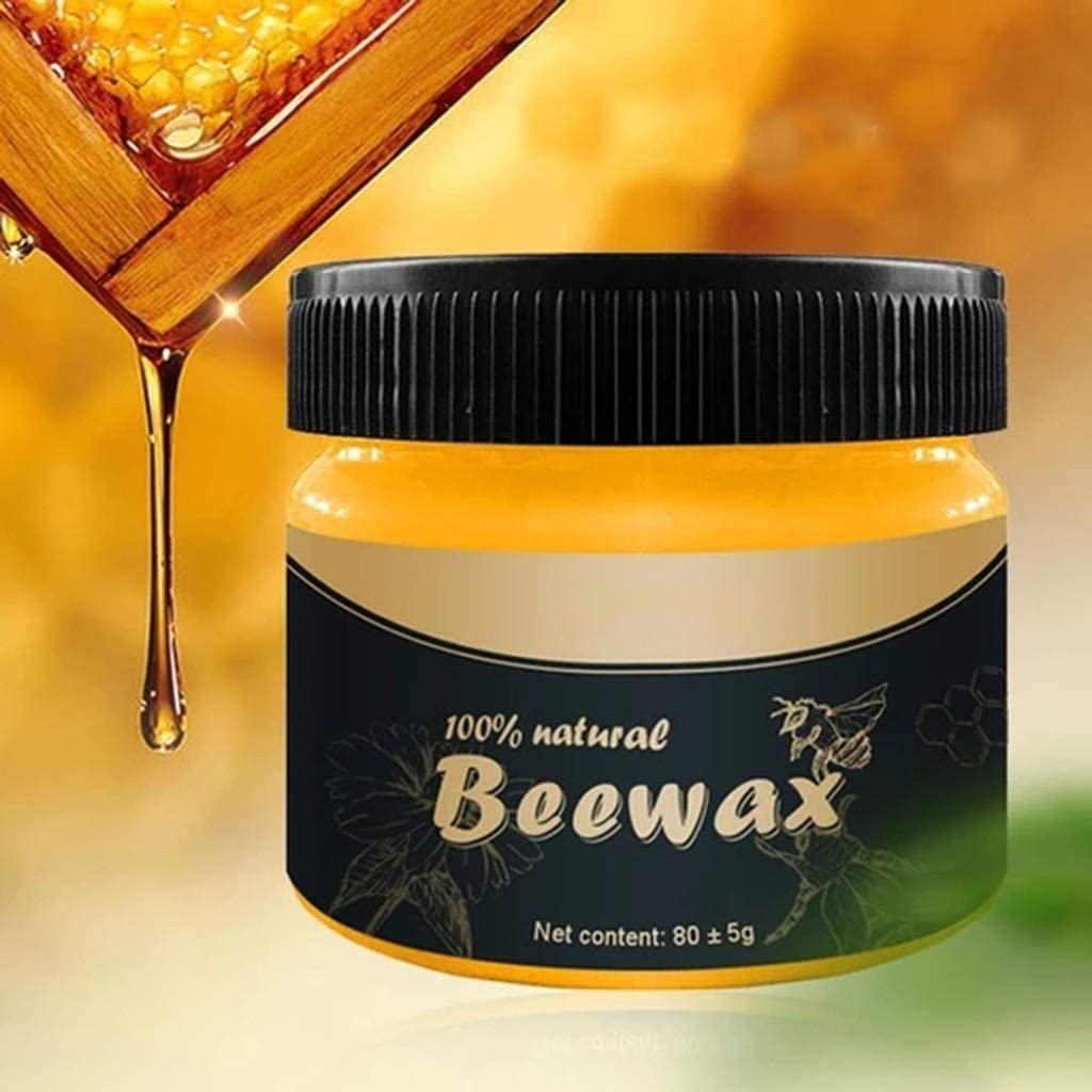 Wood Seasoning Beewax - Traditional Beeswax Polish for Wood & Furniture, All-Purpose Beewax for Wood Cleaner and Polish Wipes - Non Toxic for Furniture to Beautify & Protect (1 pack)