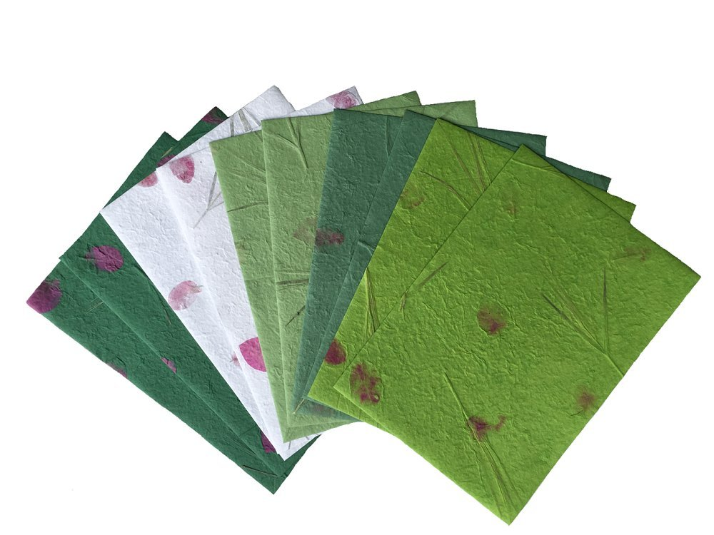 10 Sheets 8.5 x 12 inches Mulberry Paper Sheets Thick Mulberry Paper DIY Craft Scrapbook Wedding Mixed Artificial Thick Handmade Tear Bears Paper Piecing Scrapbook Wedding. (N0010) WADSUWAN SHOP paper0010