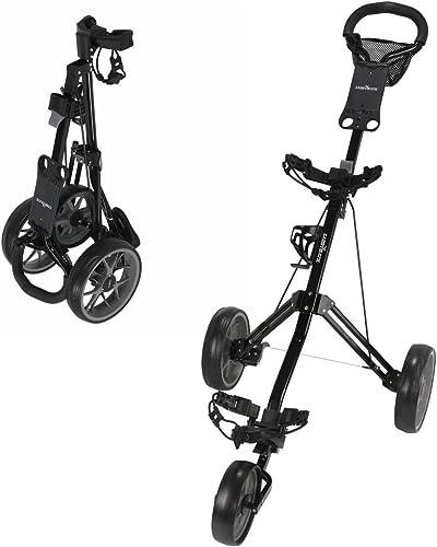Caddymatic Golf Pro Lite 3 Wheel Golf Cart Black Gray