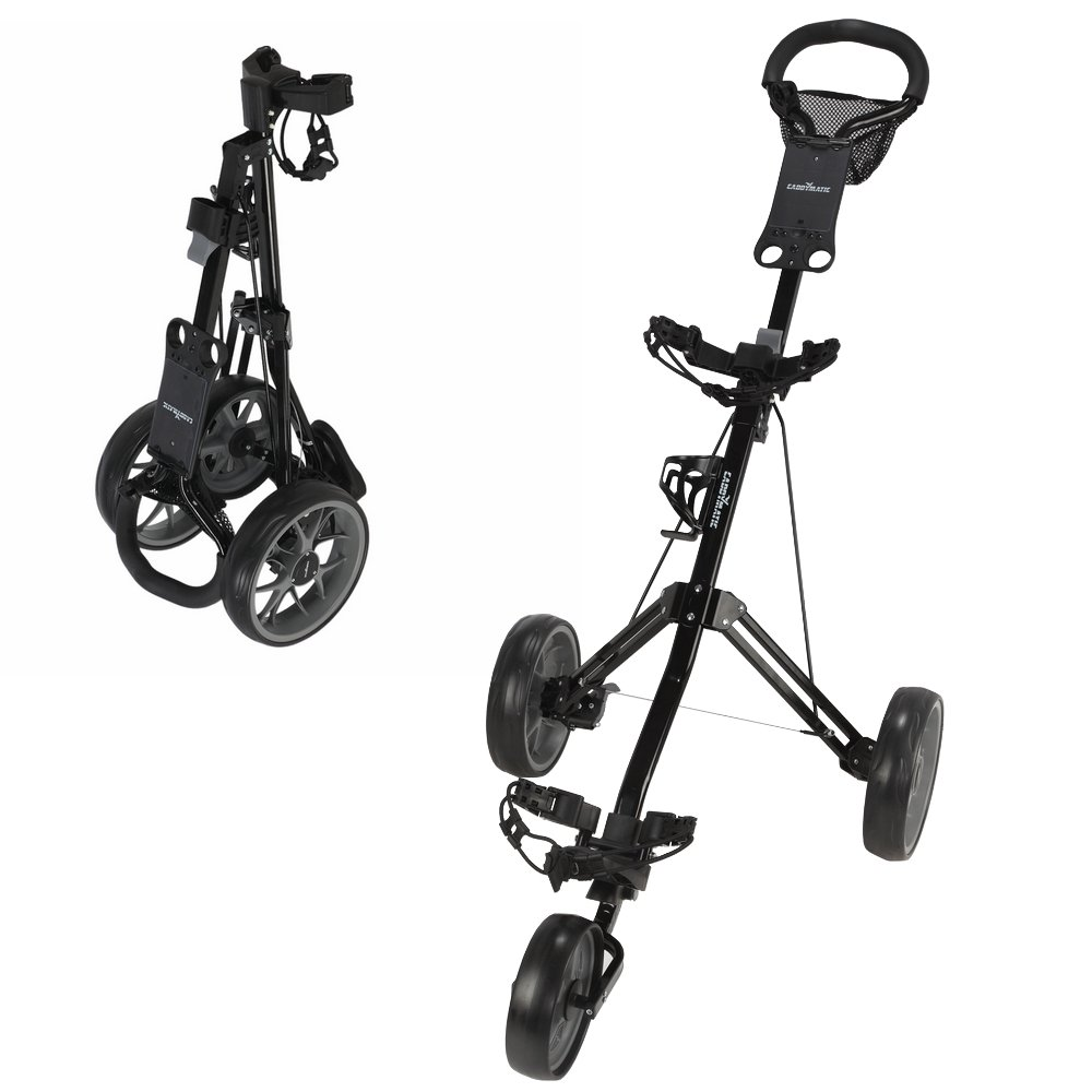 Caddymatic Golf Pro Lite 3 Wheel Golf Cart Black/Gray by Caddymatic