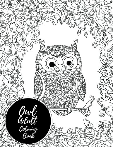Owl Adult Coloring Book Relaxation product image