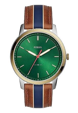 Fossil FS5550 The Minimalist 3H Uhr Herrenuhr Lederarmband