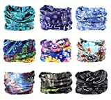 9PCS Outdoor Headscarves, Womens and Mens Headband Headwear (Turning)