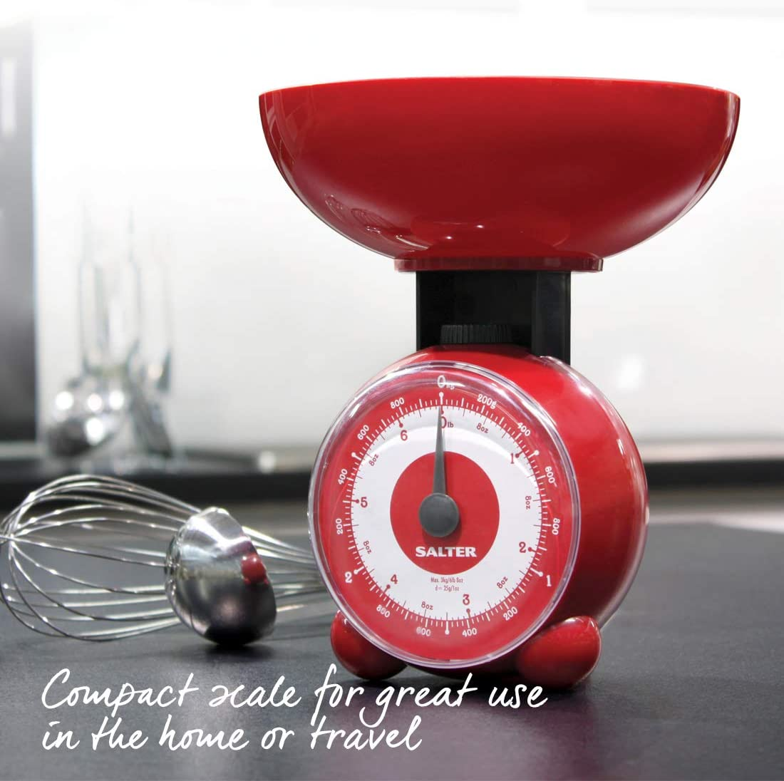 Salter Orb Mechanical Scale Red