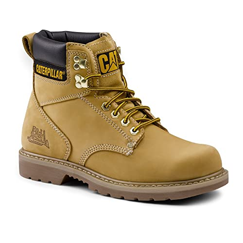 3b711878809 Caterpillar SureGrip Mens Second Shift SG Steel Toe Wheat Slip ...