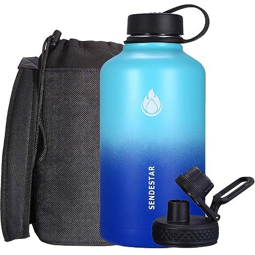 Amazon.com: SENDESTAR Botella de agua de acero inoxidable ...