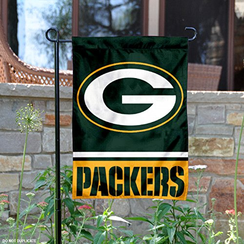 Nfl Side Banner 2 (Green Bay Packers Double Sided Garden Flag)