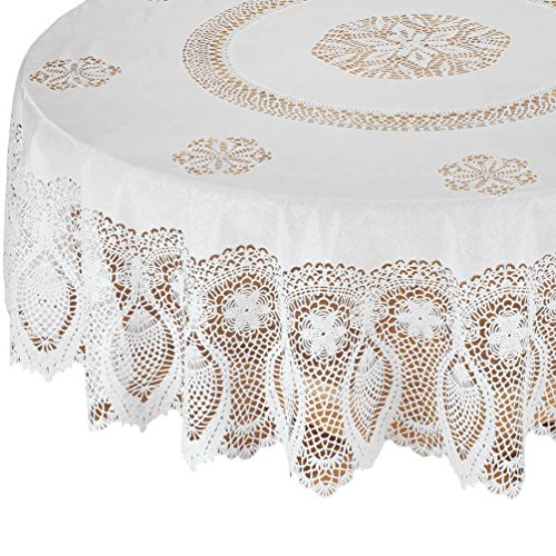 Miles Kimball White Vinyl Tablecloth