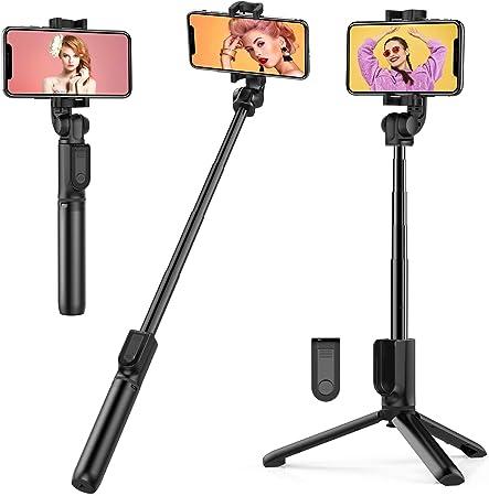 Oferta amazon: TECELKS Palo Selfie Trípode con Control Remoto Bluetooth, 3 en 1 Selfie Stick Extensiblede Aluminiopara Movil, Rotación 360°, Mini Tripode para viaje Compatible con Iphone y Android (2.8-4.3