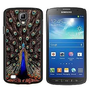 BearCase / Cubierta de protección Caso duro de la contraportada de Shell Plástico /// Samsung Galaxy S4 Active i9295 /// Plumas del pavo real iridiscente Blue Bird