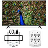 LG 49UF6400 - 49-Inch 120Hz 4K Ultra HD Smart LED TV Slim Flat Wall Mount Bundle includes 49UF6400 49-Inch 4K TV, Slim Flat Wall Mount Bundle and 6 Outlet Wall Tap w/ 2 USB Ports