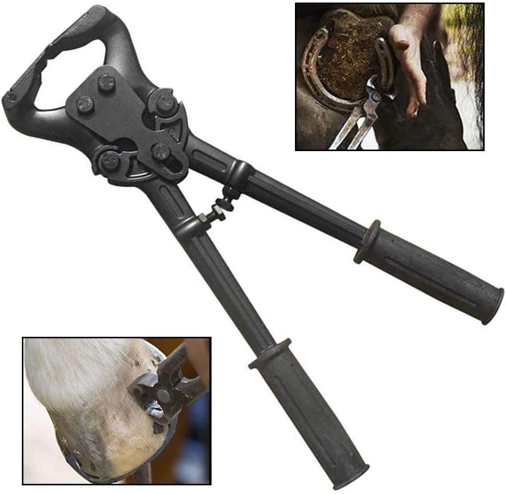 WHR-HARP Professional Horses Hoof Trimming Tools, Tijeras de Metal para Caballos Equinos Farriers Alicate Cortador de Pezuñas Herramientas Profesionales para Cortar Pezuñas para Caballos