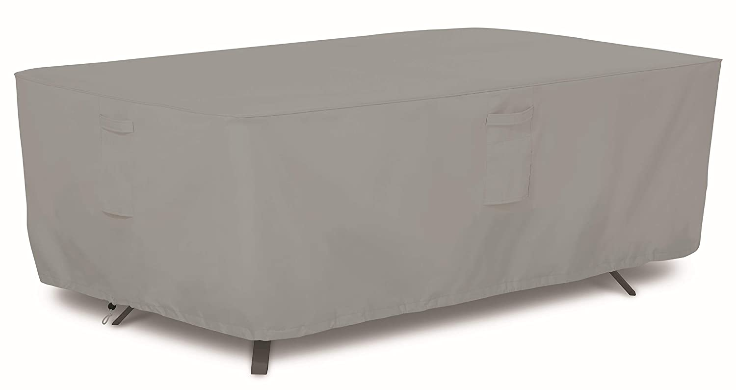 AmazonBasics Patio Rectangular Dining Table Cover, 72 , Grey