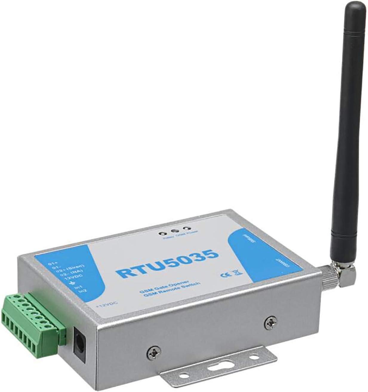 Senders gsm Abridor de Puerta a Distancia Soporta Llamadas Gratis SMS Comandos, Interruptor Remoto SM, abrepuertas con Control gsm Dial (RTU5035)