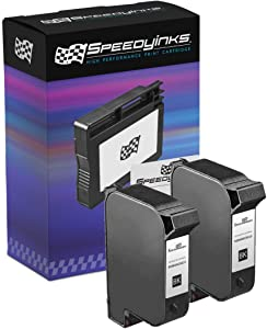 Speedy Inks Remanufactured Ink Cartridge Replacement for HP 45/ 51645A (Black, 2-Pack)