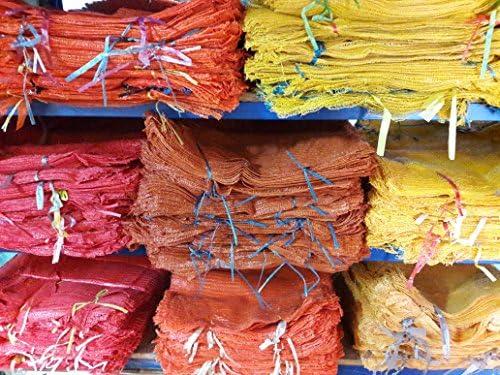 25 X Orange Netz Säcke 55cm x 80cm//30Kg Gewebt Beutel Brennholz Kartoffeln