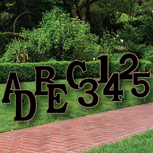- Big Dot of Happiness Custom Yard Words - Personalized Letter and Number Messages - Custom Party Lawn Decorations - Pick Your Letters or Numbers (Pick 10 Letters Numbers)
