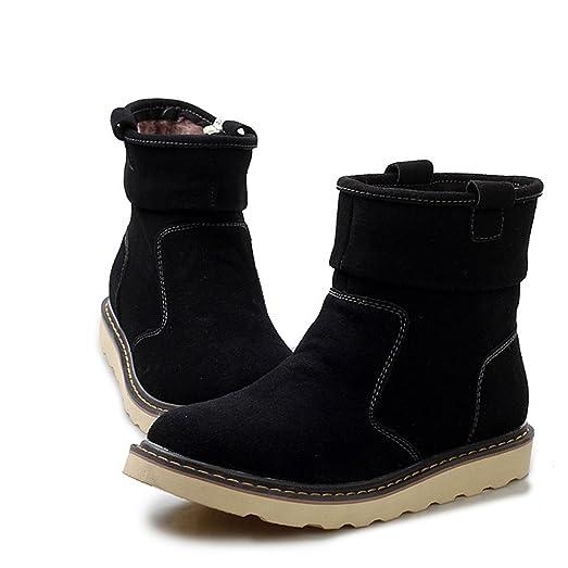 E.a@market Winter New Unisex Cowhide Snow Boots