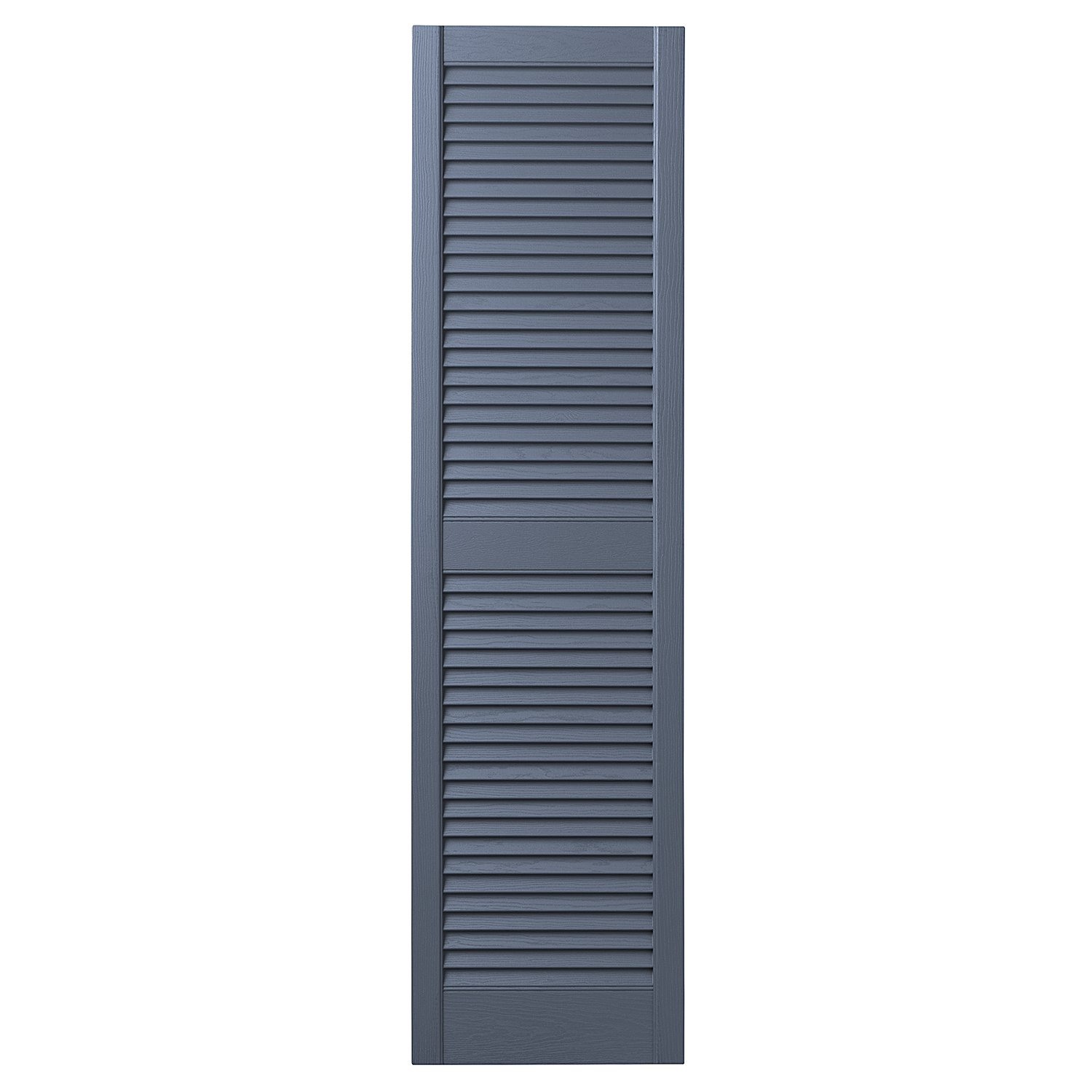 Ply Gem Shutters and Accents VINLV1567 41 Louvered Shutter, 15'', Blue