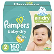 Diapers Size 2 (160 Count)- Pampers Baby Dry Disposable Baby Diapers, Giant Pack