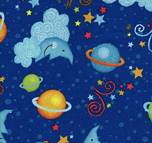 - Outerspace Galaxy on Blue Cotton Fat Quarter