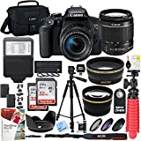 Canon T7i EOS Rebel DSLR Camera with EF-S 18-55mm f/3.5-5.6 IS II Lens and Two (2) 32GB SDHC Memory Cards Plus Triple Battery Tripod Cleaning Kit Accessory Bundle