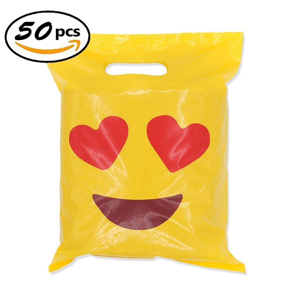 Sld Emoji Party Borse a tema per bambini, Bambini Favore per feste 50 Confezione Sunliday
