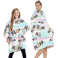 SumaidaAU Wearable Blanket Sweatshirt Hoodie for Women and Men Girl Boy Oversized Double Fleece Plush Cartoon Hooded Top…