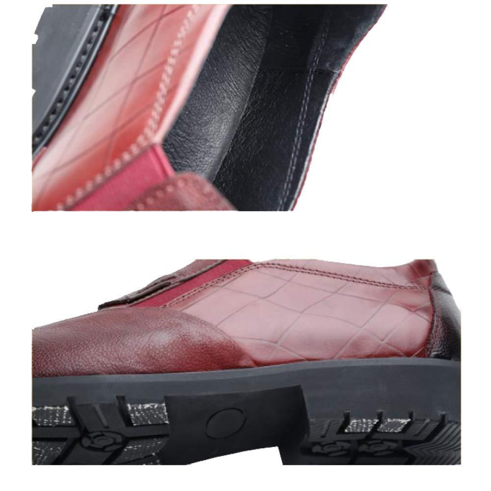 NIUMT High End Herbst und Winter Herren Lederschuhe Trend Casual Koreanische Version Business Trend Lederschuhe Comfort schwarz 06cd45