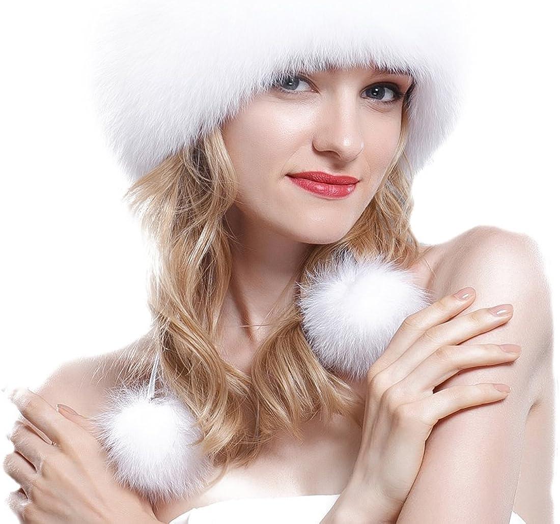 URSFUR Fox Fur Roller Hat...