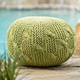 Christopher Knight Home 300616 Deon Ckh Indoor Pouf, Lime