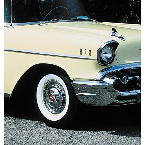"""Eckler's Premier Quality Products 57-131268 Chevy Tire, 7.50 x 14, B.F. Goodrich Silvertown, With 2/4"""" Whitewall,"""