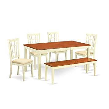 Amazon.com: East West Muebles Mesa y 4 sillas de comedor con ...