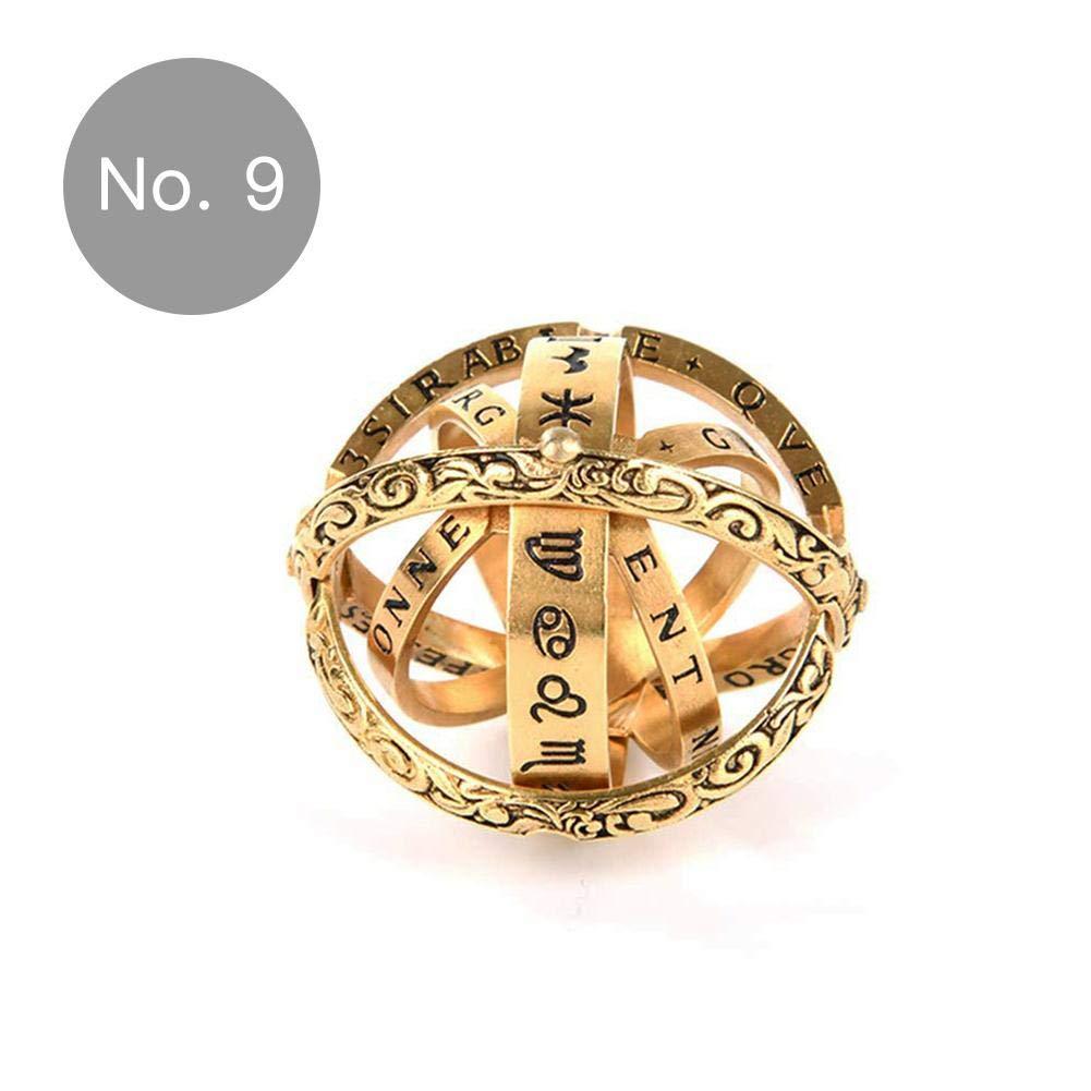 Anello astronomico Pieghevole Placcato in Rame con Simbolo astronomico thorityau Dito astronomico del XVI secolo miglior Regalo per Amante