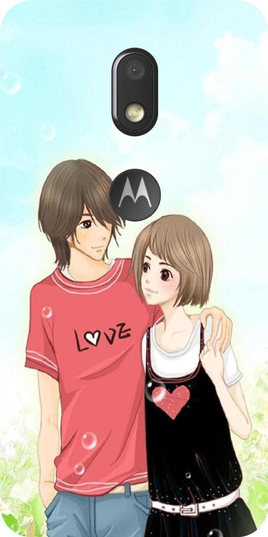 Shengshou love animated couple design mobile back cover amazon in electronics