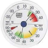 エンペックス気象計 温度湿度計 生活管理温湿度計 壁掛け用 日本製 ホワイト TM-2441