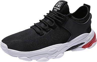 Zapatillas De Deporte Respirable para Correr Deportes Zapatos Running Hombre Jorich Casual Cómodas Calzado para Deporte Zapatos para Andar con Cordones (Negro, EU:40 25cm/9.8