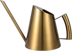 IMEEA 50oz/1.5L Indoor Watering Can for House Plants Stainless Steel Garden Watering Can with Long Spout(Bronze Color)