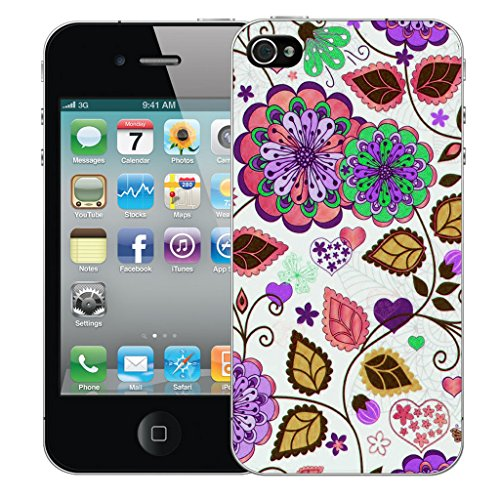 Mobile Case Mate iPhone 4s Silicone Coque couverture case cover Pare-chocs + STYLET - Pink Babydoll pattern (SILICON)