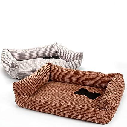 ETbotu Warm Corduroy Cute Bone Pattern Pet Mat for Small Medium Dog Cat Fall Winter Supplies