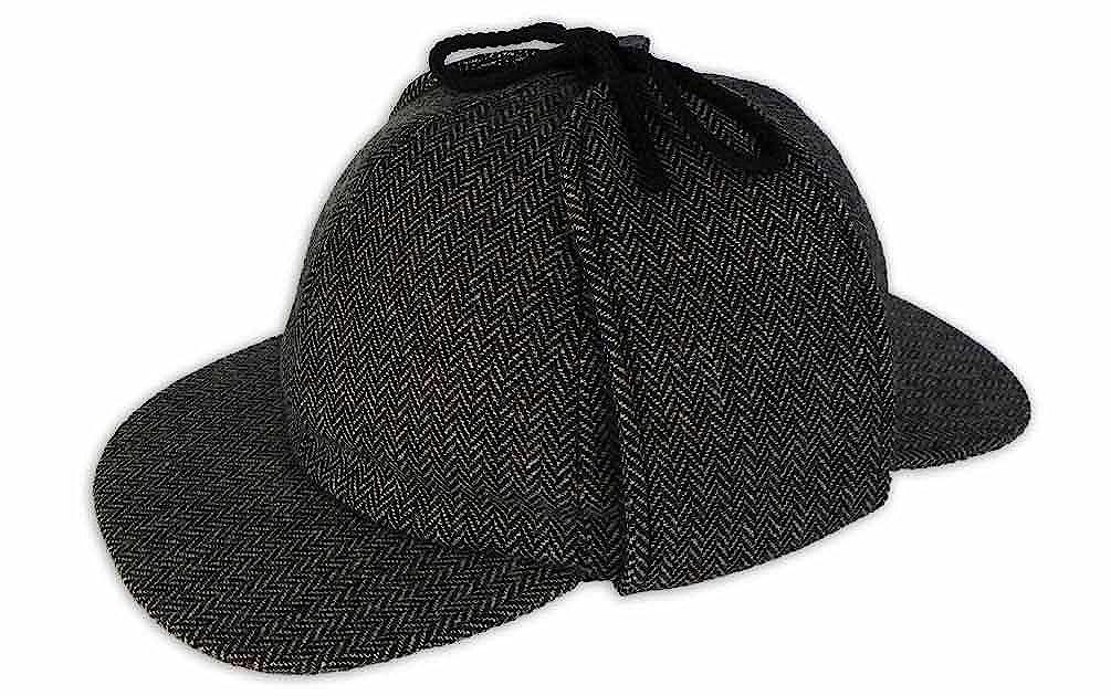 Pasquale Cutarelli Tweed Sherlock Holmes Deerstalker Herrenmütze aus Wolle (9167)