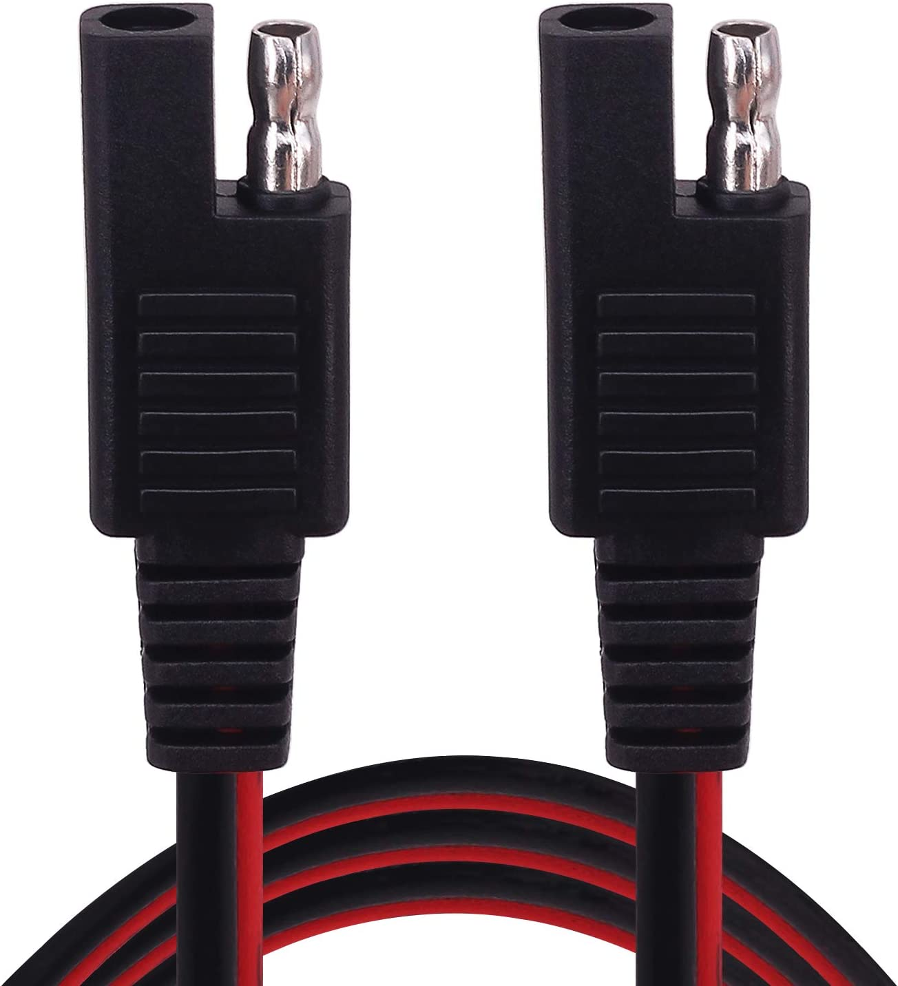Alligator Clip to SAE 1m 1 Pack Yeebline Alligator Clip to SAE Connector Cable 3.2FT 12V Alligator Crocodile Clip Clamp to SAE 2 Pin Quick Disconnect Adapter Connector Charging Extension Cord