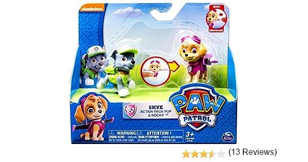 Paw Patrol Skye Action Pack Pup & Rocky Action Figures: Amazon.es: Juguetes y juegos