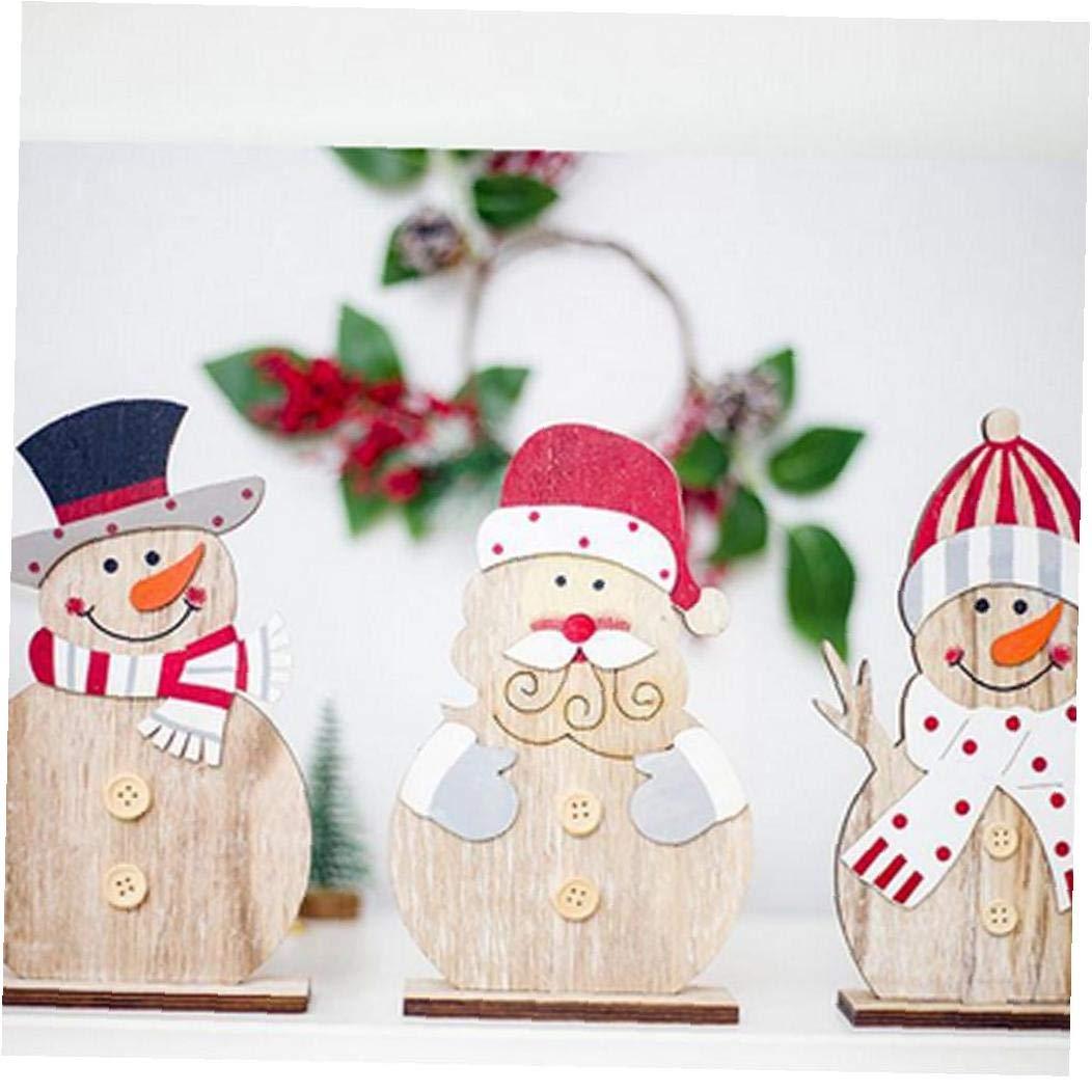 wwzEITpV 3Pcs Weihnachtsbaum Schneemann Aus Holz Ornamente Handwerk F/ür Zuhause-Party