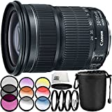 Canon EF 24-105mm f/3.5-5.6 IS STM Lens 7PC Accessory Bundle – Includes 3 Piece Filter Kit (UV + CPL + FLD) + 4PC Macro Filter Set (+1,+2,+4,+10) + MORE (White Box)