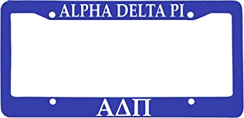 Officially Licensed Alpha Xi Delta License Plate Frame Blue