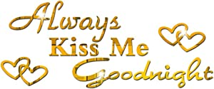 Always Kiss Me Goodnight Wall Decals Acrylic Mirror Wall Sticker for Home Living Room Bedroom Decor Wall Decoration Gold
