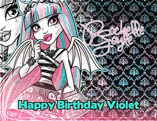 [Monster High Rochelle Goyle Edible Image Photo Cake Frosting Icing Topper Sheet Personalized Custom Customized Birthday Party - 1/4 Sheet -] (Monster High Rochelle Goyle)