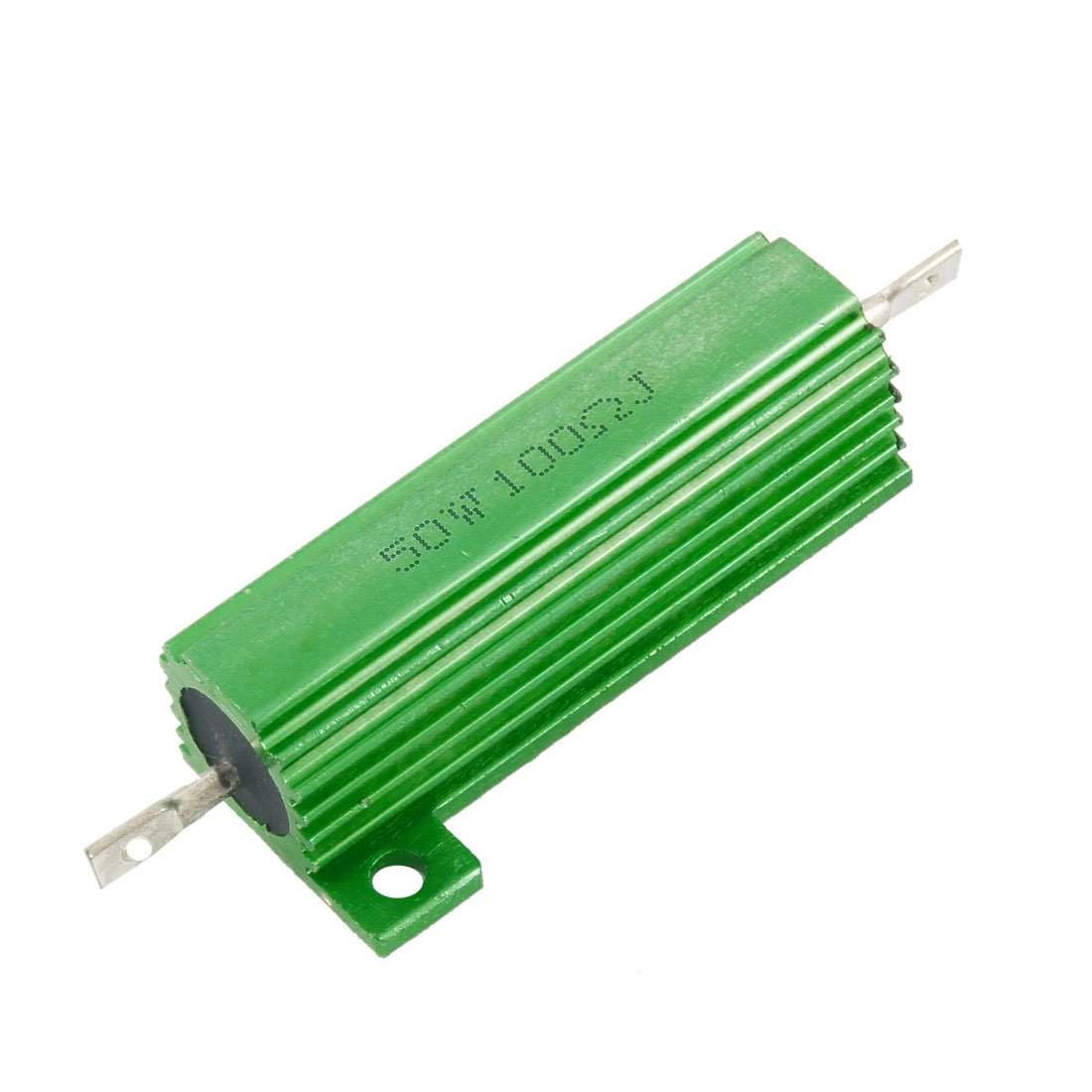 50 Watt 100 Ohm 5% Green Aluminum Shell Wire Wound Resistor uxcell a12050400ux0137