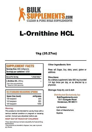 BulkSupplements L-Ornithine HCL Powder 1 Kilogram